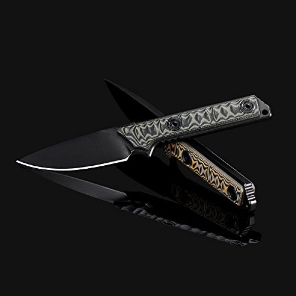 CIMA Folding Survival Knife 3 CIMA gsc511 Full Tang 1095 high Carbon Steel Fixed Blade Hunting Survive Knife with Micarta Handle,K Sheath