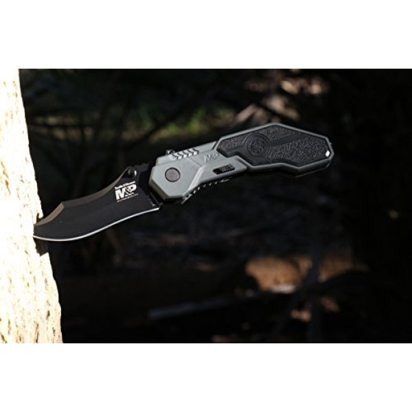 Smith & Wesson Folding Survival Knife 3 Smith & Wesson M&P SWMP1B 7.1in High Carbon S.S. Assisted Folding Knife with 2.9in Clip Point Blade and Aluminum Handle for Tactical, Survival and EDC