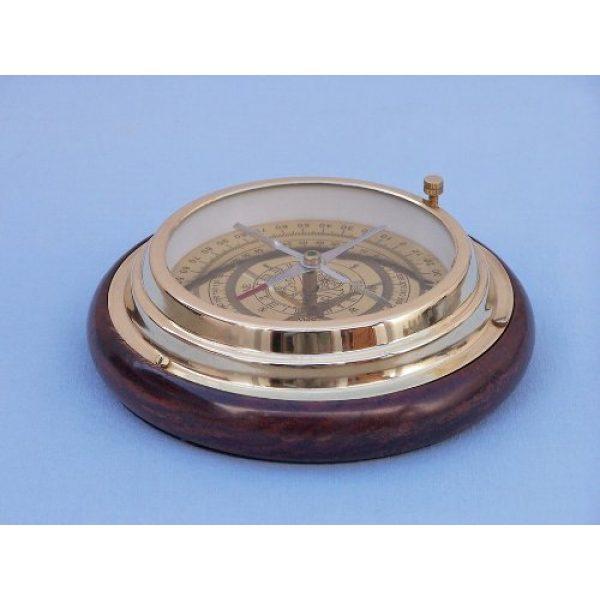"""Hampton Nautical Survival Compass 5 Hampton Nautical Brass Directional Desktop Compass, 6"""", Brass"""