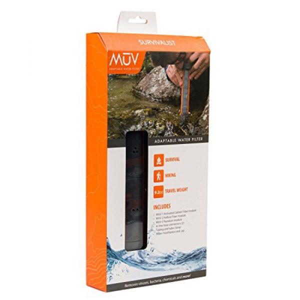 Renovo Water Survival Water Filter 3 Renovo Water MUV Survivalist Water Filter - Blocks Chemicals, Bacteria, Viruses and More
