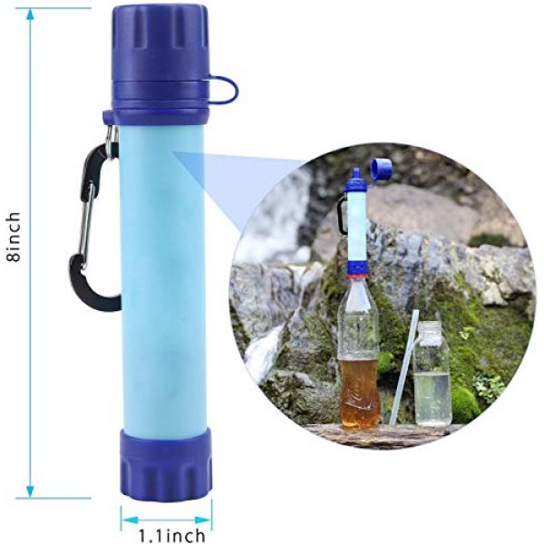 joypur Survival Water Filter 4 joypur Water Filter Straw, Portable Camping Water Purifier, 4-Stage Integrated Emergency Survival Filtration System for Hiking, Climbing, Backpacking and Emergency Preparedness