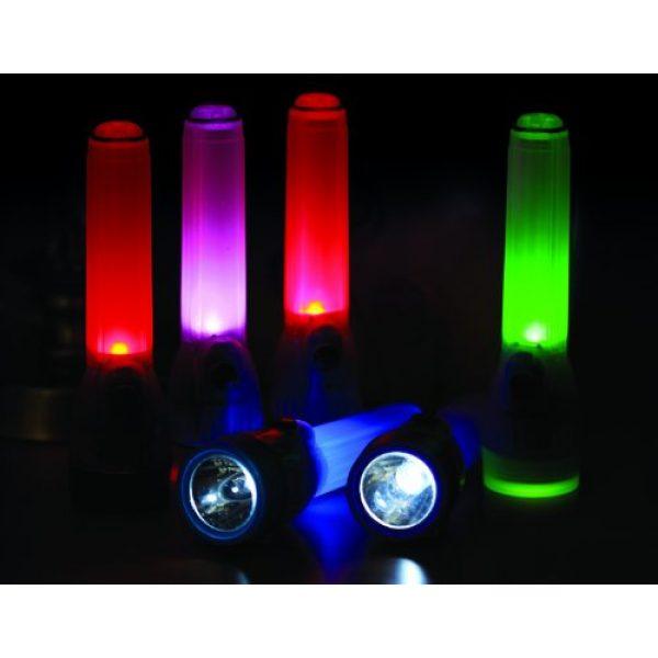 Life Gear Survival Flashlight 5 Life Gear Mini LED Flashlight with Glow Handle, Red Body