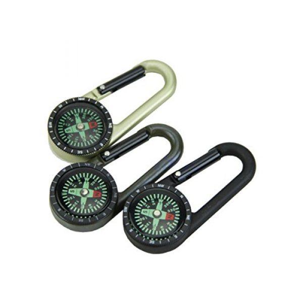 Snowmanna Survival Compass 7 Snowmanna-1Pc Mini Aluminum Compass Carabiner Key Chain Hook Outdoor Hiking Camping Survival Tool