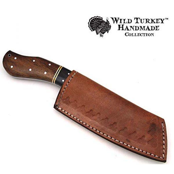 Wild Turkey Handmade Fixed Blade Survival Knife 6 Wild Turkey Handmade Collection Full Tang High Carbon Steel Fixed Blade Knife w/Leather Sheath