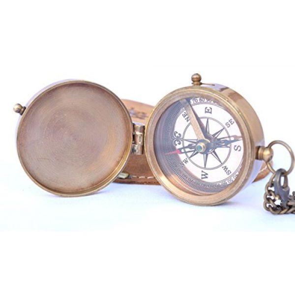 NEOVIVID Survival Compass 3 NEOVIVID Brass Pocket Compass, Engravable Compass, Camping Compass, Hiking Compass, Wedding Gifts