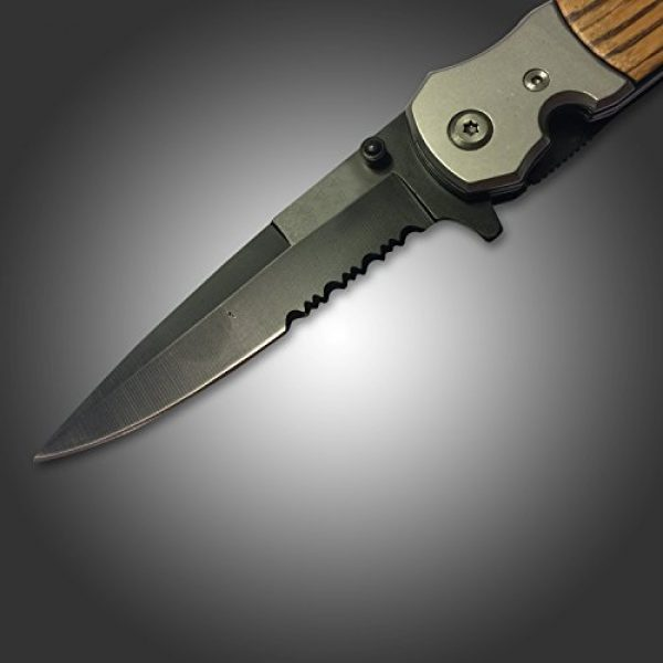 USA Defenders Folding Survival Knife 7 Best Hunting Tactical Spring Assisted Tac Force Tanto Folding Knife and Pocket Knife for Deer, Boar, Hog and Fishing Buck Knife. Boy Scout Pocket Knife with Clip. New Rescue Knife Survival Carbon Steel Blade Open Case Knives for Camping with 2 Teeth Blade on a Custom Wood Handle.