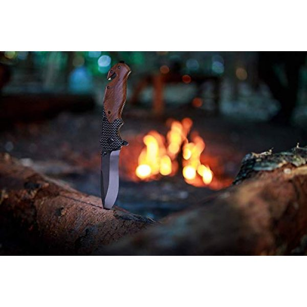 Unilove Folding Survival Knife 5 Unilove Folding Knife Pocket Knife Outdoor Survival Knife Tactical Knife with Sheath for Camping Hunting Survival and Outdoor