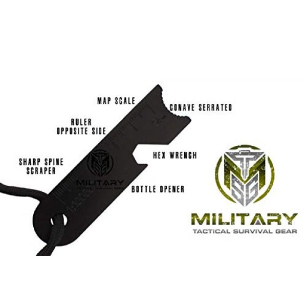 """MTSG Military Tactical Survival Gear Survival Fire Starter 2 MTSG Military Tactical Survival Gear 5/16"""" Fire Starter Thick Bushcraft Fire Steel with Hand Crafted Wood Handle 12,000+ Strikes Traditional Ferro Rod"""