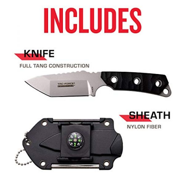 Tac Force Evolution Fixed Blade Survival Knife 5 Tac Force Evolution Fixed Blade Knife - TFE-FIX011-BK