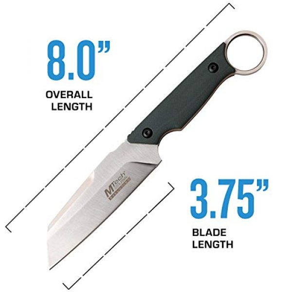 MTECH USA EVOLUTION Fixed Blade Survival Knife 4 MTech Evolution Tactical Fixed Blade Knife - MTE-FIX011-GN