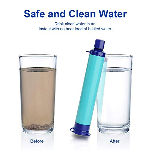 Latesco4Happy  3 Latesco4Happy Portable Purifier Water Filter Straw Gear Camping Hiking Emergency Life Survival