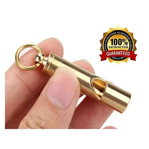 FUTURESTEPS Survival Whistle 6 Loudest Brass Whistle | Best Premium Emergency Whistle | One Piece | Outdoor Survival Whistle | On Key-Chain or Hang Around Your Neck and Carry it Anywhere!