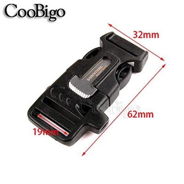 "CooBigo Survival Buckle 2 10Pcs 3/4"" (19mm) Fire Starter Survival Whistle Buckle Flint Scraper for Outdoor Hiking Camping Backpack Bag"