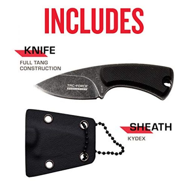 Tac Force Evolution Fixed Blade Survival Knife 5 Tac Force Evolution Fixed Blade Knife - TFE-FIX012-BK