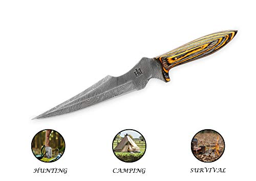 Micarta Handle|Leather Sheath| Designed for Hunting and Camping