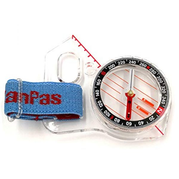 KanPas Survival Compass 2 Basic Training Competition Thumb Orienteering Compass for Foot Cross-Country Directional Movement
