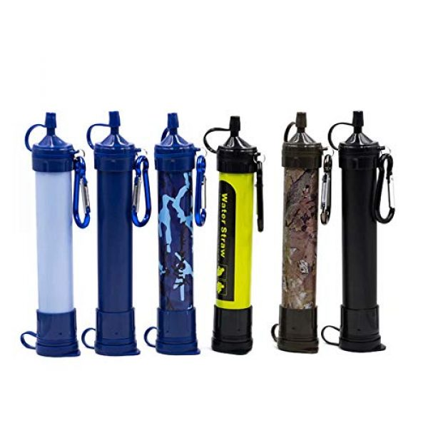 gusuqing Survival Water Filter 3 gusuqing Water Filter Straw - Small Portable Reusable Purifier with Charcoal Filtration System - Water Purifier for Outdoor Hiking,Hunting, Travel and Emergency