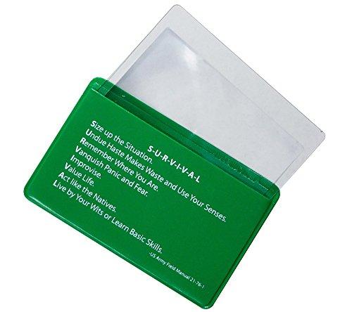 5col Survival Supply  3 5col Survival Supply Fresnel Lens 4-Pack Credit Card Size Pocket Magnifier & Firestarter