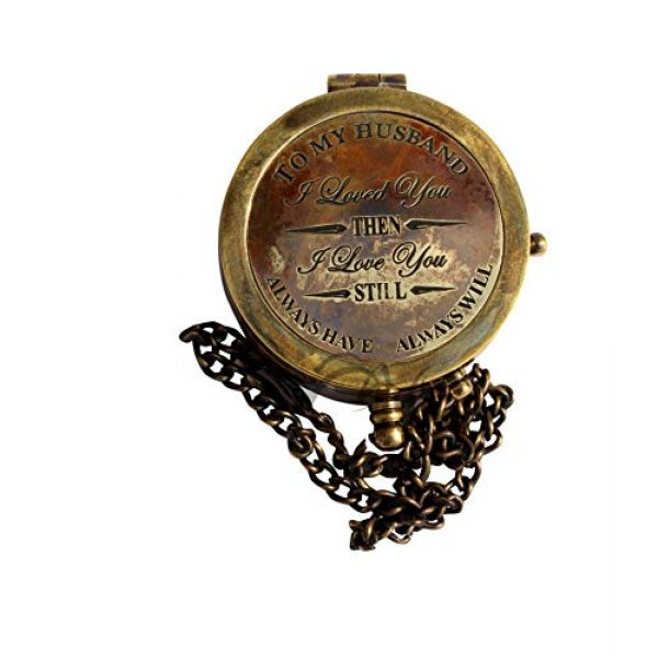 MAH Survival Compass 3 MAH to My Husband I Loved You , Camping Compass Engraved with Gift Compass C-3115