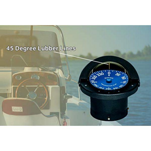 """Ritchie Navigation Survival Compass 3 Compass, Flush Mount, 4.5"""" Dial, Black"""