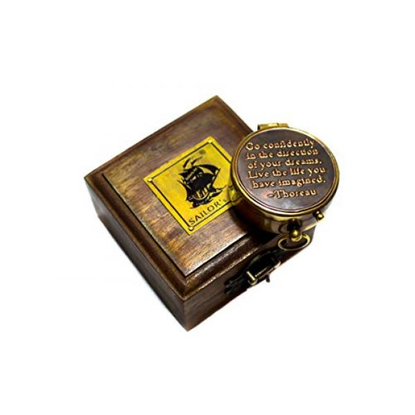Sailor's Art Survival Compass 5 Sailor's Art Antique Handcrafted Brass Compass-Camping Travelling Equipment-Perfect Sailor Gifts-Direction Pocket Compass-Vintage Home D©cor Item-Gifts for Friends Family Children