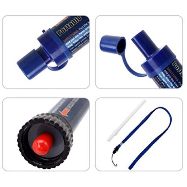WMMDM Survival Water Filter 3 Life Straw Personal Water Filter, for Camping, Outdoor Adventure Emergency Preparedness Water Purifier Purifiable 2000L