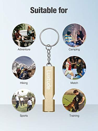 Ultra Loud & High-Pitched Double Tubes Safety Survival Whistle for Camping/Hiking/Storm/Boat/Coach/Dog Training