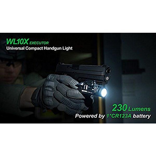 NEXTORCH Survival Flashlight 2 NEXTORCH 230 Lumen WL10X Executor Ultra Bright Lightweight LED Weapon Light, Attach Mount Upgraded