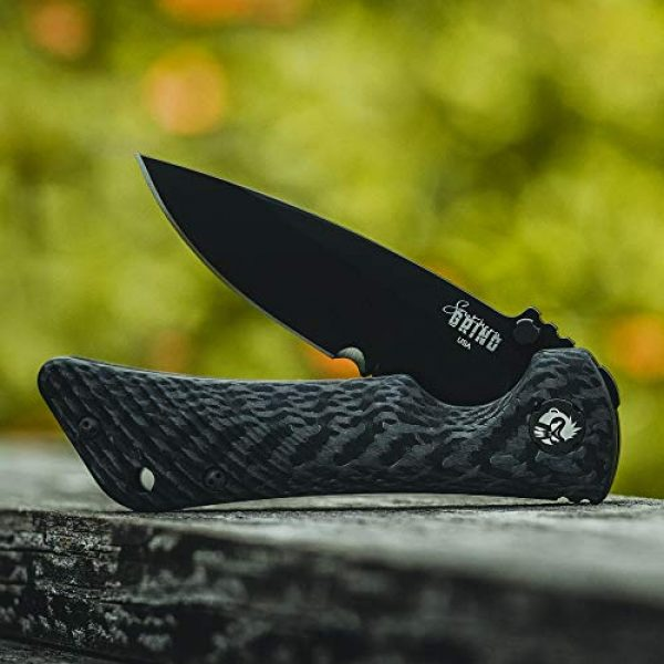 Southern Grind Folding Survival Knife 4 Southern Grind Spider Monkey Drop Point Folding Knife with Carbon Fiber Handle