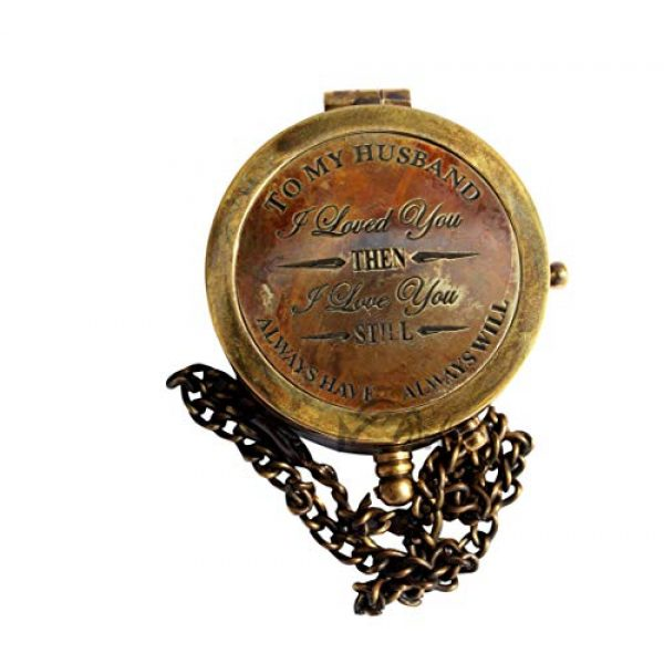 MAH Survival Compass 5 MAH to My Husband I Loved You , Camping Compass Engraved with Gift Compass C-3115