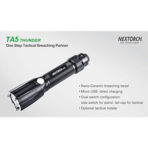 NEXTORCH Survival Flashlight 3 NEXTORCH TA5 Guardian 900 Lumen LED Duty Light, Safe Breaching with One Step Strobe Tail Cap Switch