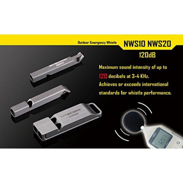 Nitecore Survival Whistle 7 Nitecore NWS10 TC4 Titanium Outdoor Emergency Whistle 120 Decibeles (NWS10 Emergency Whistle)