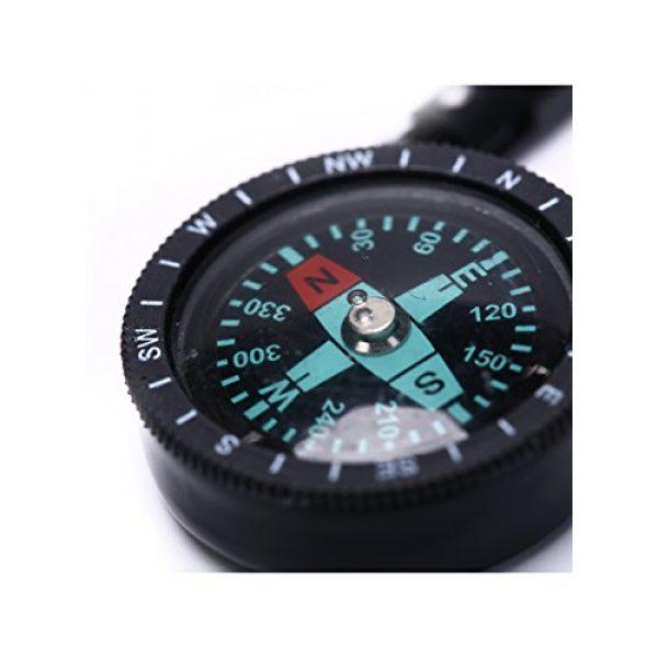 Snowmanna Survival Compass 3 Snowmanna-1Pc Mini Aluminum Compass Carabiner Key Chain Hook Outdoor Hiking Camping Survival Tool