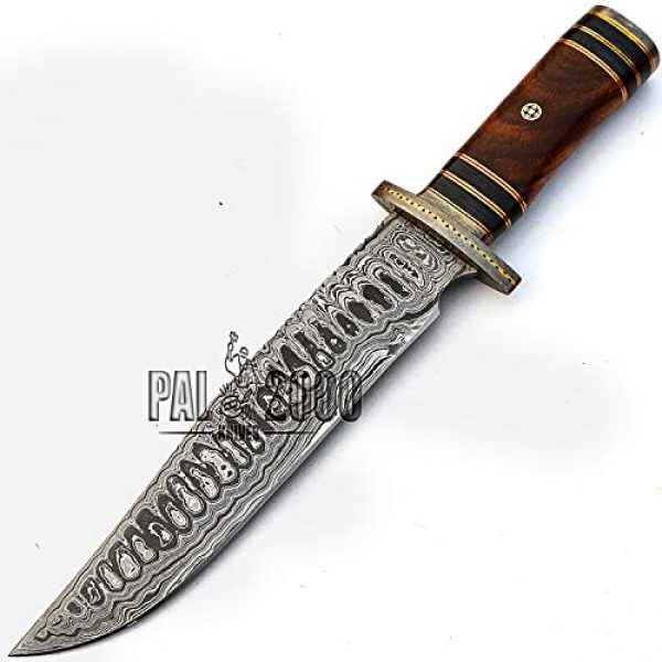 PAL 2000 KNIVES Fixed Blade Survival Knife 6 PAL 2000 KNIVES Handmade Damascus Steel Knife with Sheath 14 Inches Beautiful Rose Wood Handle New Pattern Fixed Blade Full Sharp Edge 9688