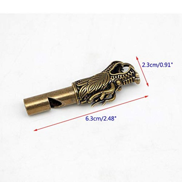 Run Survival Whistle 2 Run Handmade Brass Dragon Head Emergency Whistle Loud Survival Whistle Keychain
