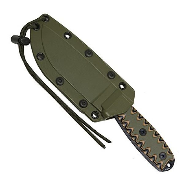 ESEE Fixed Blade Survival Knife 4 ESEE 4P Survival Fixed Blade Knife, OEM Sawtooth Handle Design