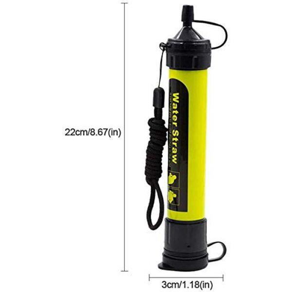 AVENTURE ET CULTURE Survival Water Filter 3 AVENTURE ET CULTURE Personal Water Filter for Hiking, Camping, Travel, and Emergency Preparedness