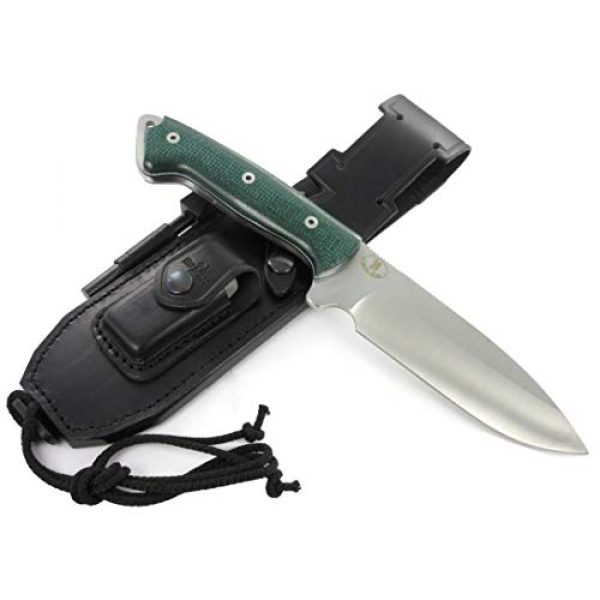JEO-TEC Fixed Blade Survival Knife 2 JEO-TEC N39 - New CELTIBERO - Bushcraft Survival Hunting Camping Knife, MOVA Stainless Steel, Multi-positioned Leather or Kydex Sheath - Handmade