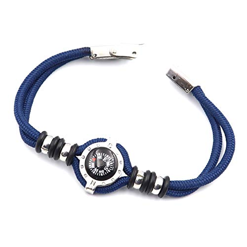 DETUCK  5 DETUCK(TM Compass Bracelet Working Navigation Compass Charm Detachable Bracelet Jewelry Gift Wrap