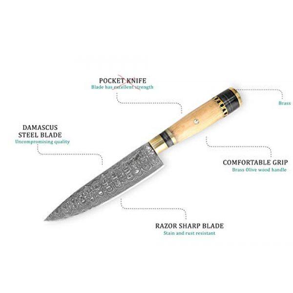 Perkin Fixed Blade Survival Knife 5 Perkin Knives - Custom Handmade Damascus Hunting Knife - Beautiful Kitchen & Camping Knife