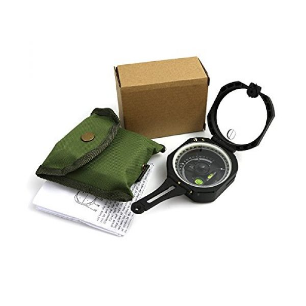 Funtalker Survival Compass 6 Funtalker Multi-Function Pocket Compass for Surveyors Foresters Lightweight and Durable - Green