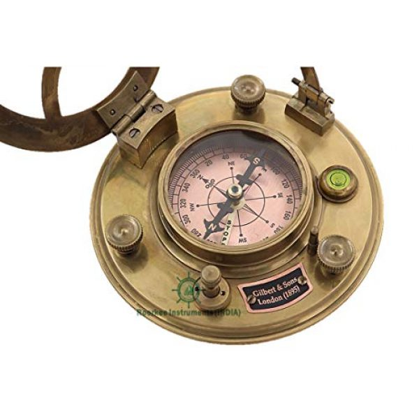 Roorkee Instruments India Survival Compass 6 Roorkee Instruments India Top Grade Gilbert & Son London Sundial Compass/Perfectly Calibrated Compass