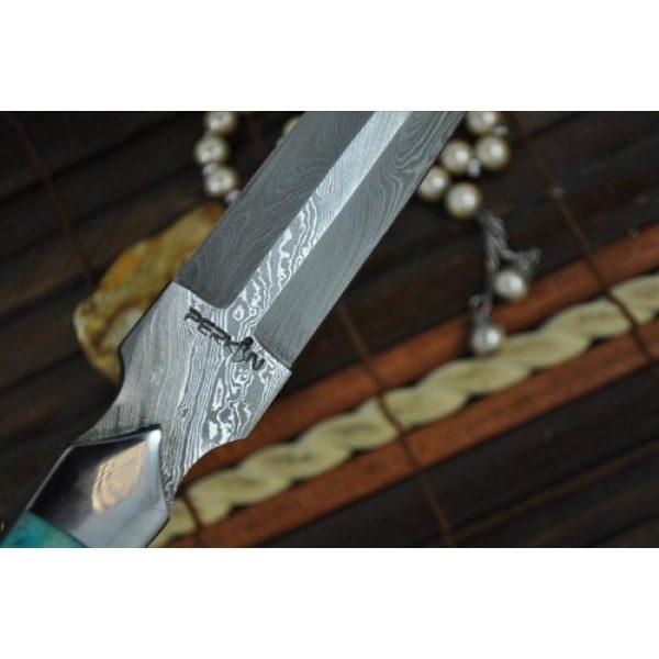 Perkin Fixed Blade Survival Knife 4 Perkin Knives - Custom Handmade Damascus Hunting Knife - Double Edge Knife