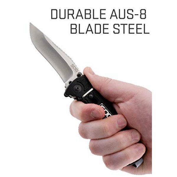 SOG Folding Survival Knife 6 SOG Rescue Pocket Knife - Trident Elite Tactical