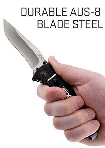 SOG  6 SOG Rescue Pocket Knife - Trident Elite Tactical