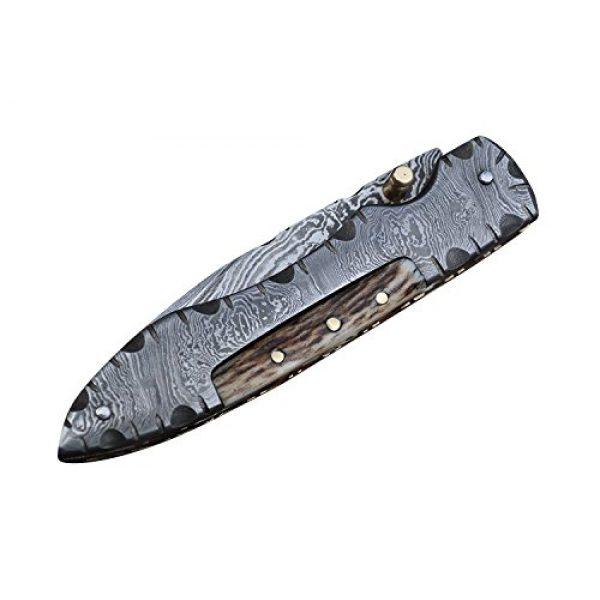 Perkin Folding Survival Knife 2 Perkin MM2002L Damascus Steel Knife, Pocket Knife, Folding knife