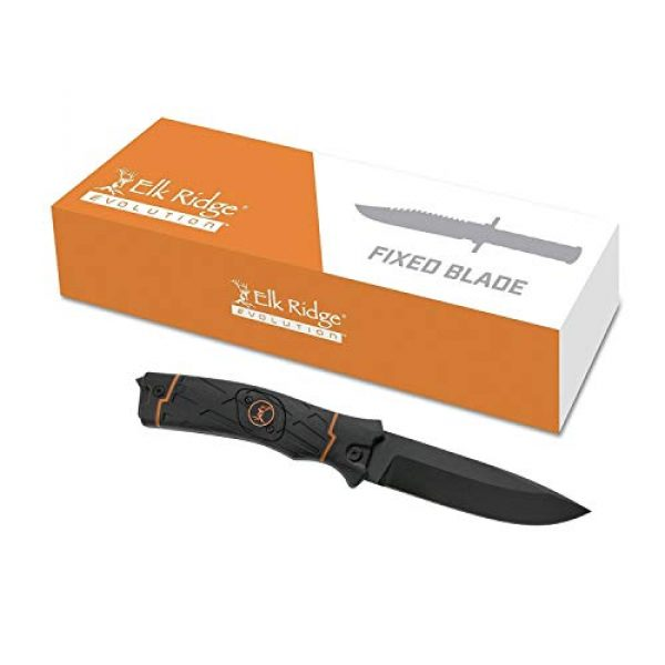 Elk Ridge Evolution Fixed Blade Survival Knife 7 Elk Ridge Evolution Fixed Blade Knife - ERE-FIX010LED-BO