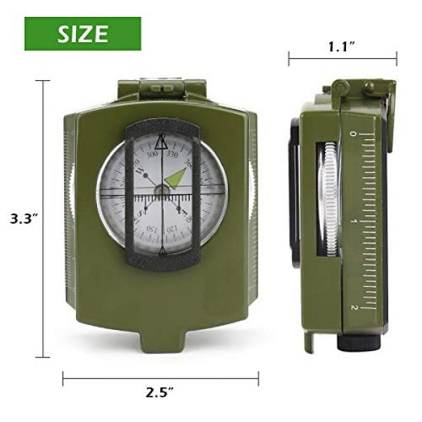 Intsun Survival Compass 6 Intsun Military Compass for Hiking, Multifunctional Lensatic Compass Waterproof and Shakeproof, Sighting Navigatio Compasses for Hiking, Camping, Motoring, Boating, Boy Scout