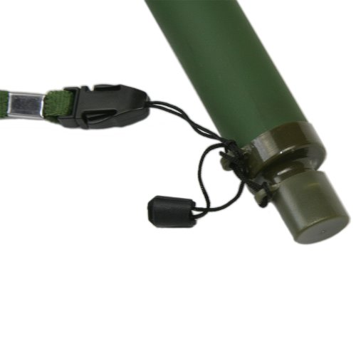 GESS  4 GESS Army Grade Emergency Water Straw with 15 Microns for 99.999% Purification Army Green