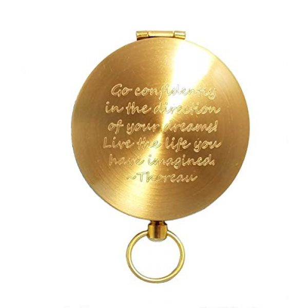 Stanley London Survival Compass 2 Stanley London Engraved Compass with Thoreau's Go Confidently Quote